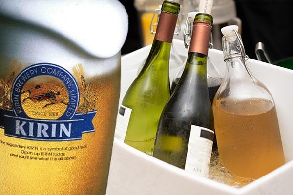 スパークリングワインを含めた20種類以上のお飲物が飲み放題