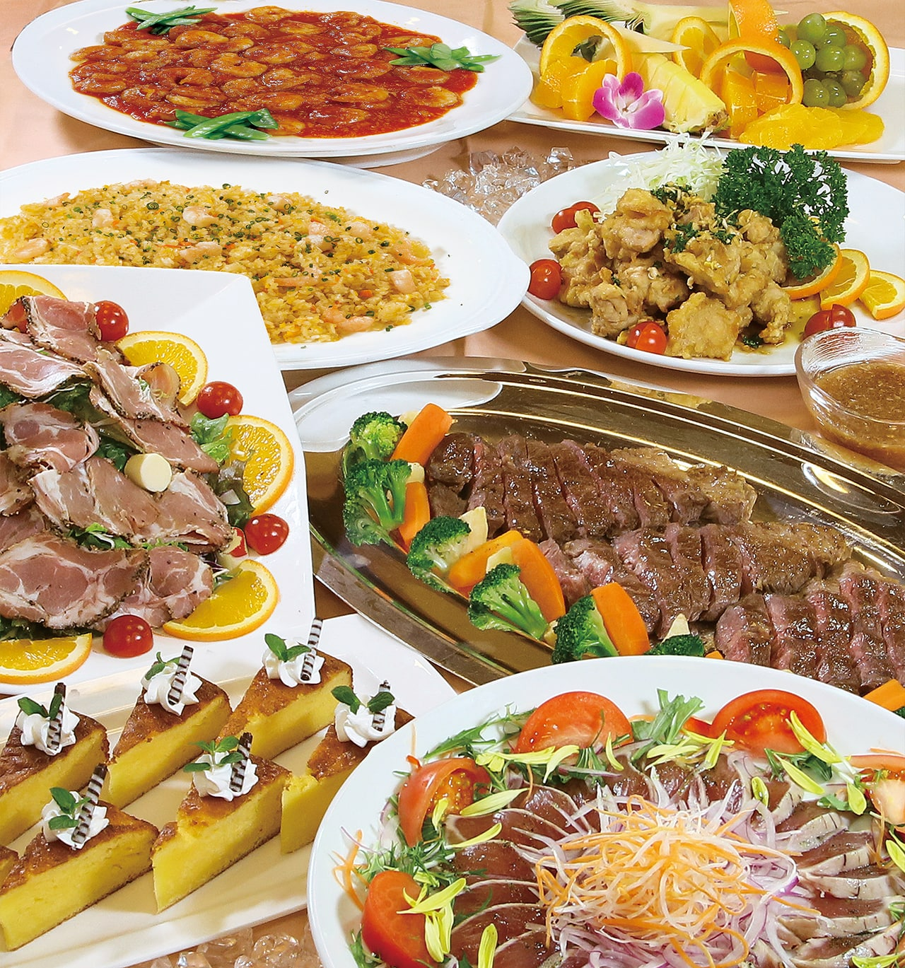 「洋食・中華卓盛料理 カトレア」5,000円