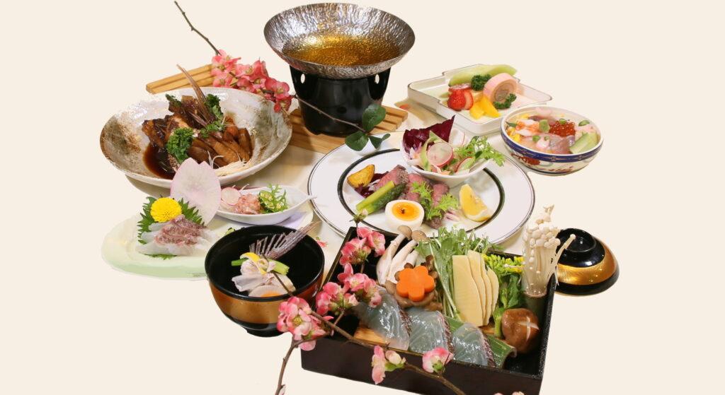 桜鯛と佐賀牛 春風の宴(うたげ)コース