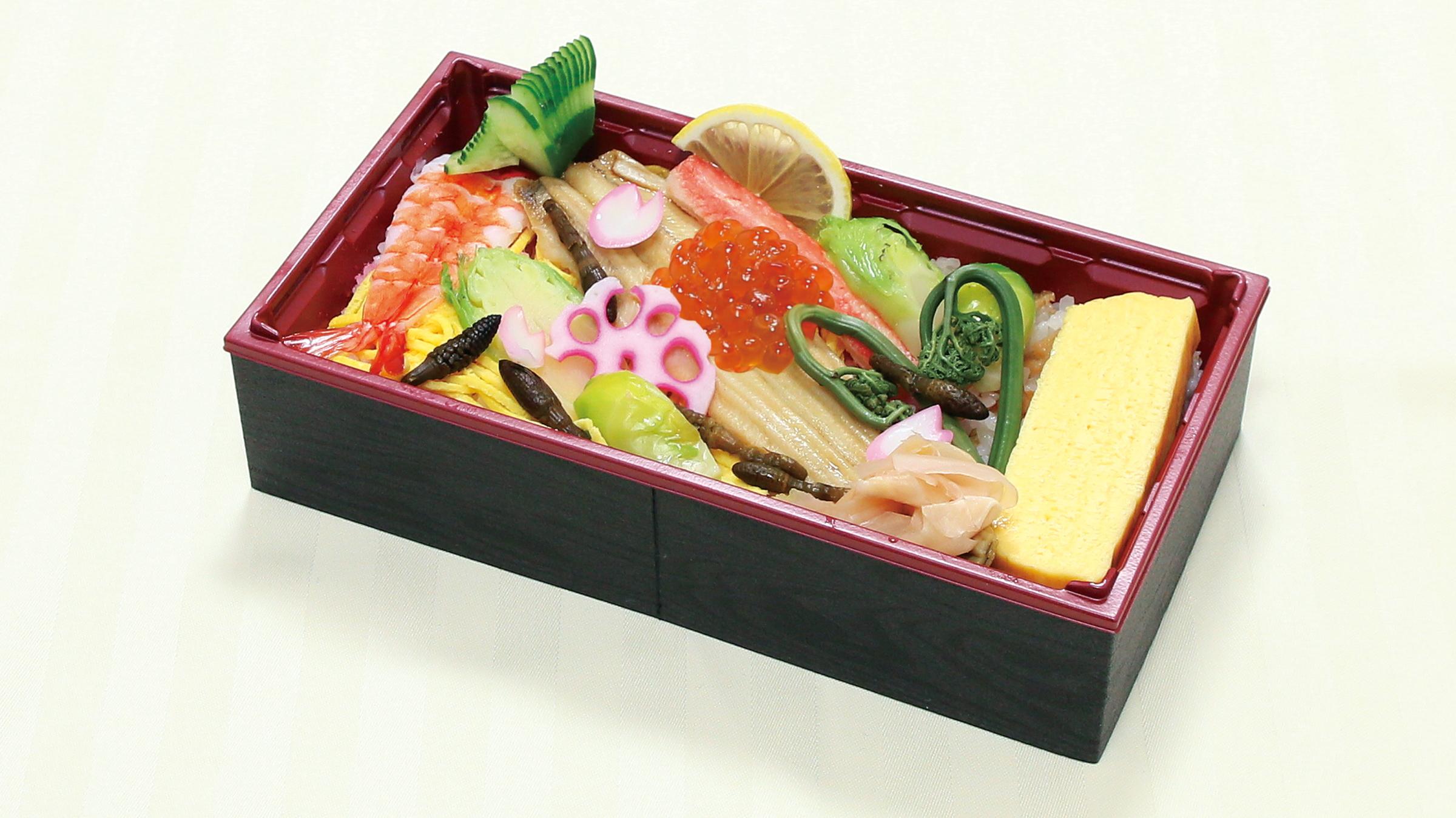 海老と穴子の春野菜ちらし寿司